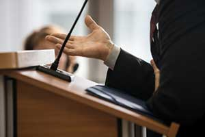Attorney defending a business