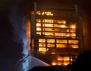 Building on fire not covered by commercial umbrella insurance