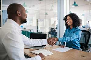 HR representative meeting with employee