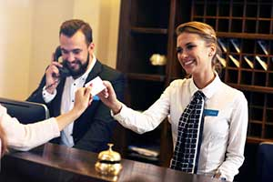 Hotel owner who has hospitality insurance