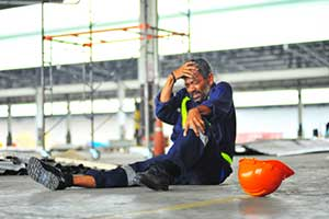 Worker injured while working on a job