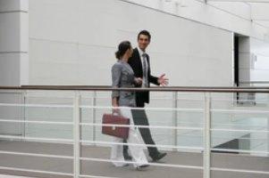 Associates Walking while Talking