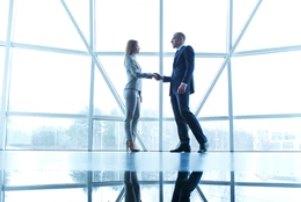 Trade Associates Shaking Hands