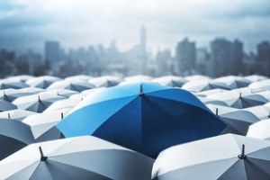 umbrella insurance concept with trade associations