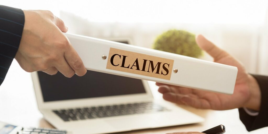 lawyers filed a claims document of the customer to the insurance company