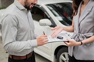 Trade association employee receiving commercial automobile insurance