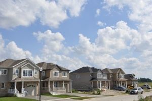 Neighborhood with Homeowners Insurance