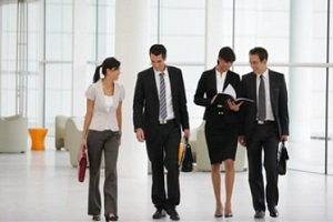 business people in suit in a company with d&o insurance